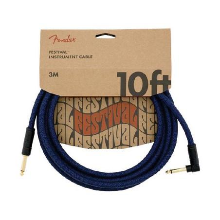 Fender FV Series Cable Cotton Blue Dr 10